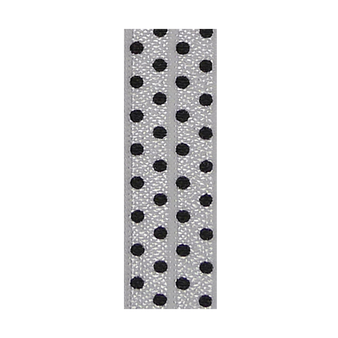 Hair Ties White Black Polka