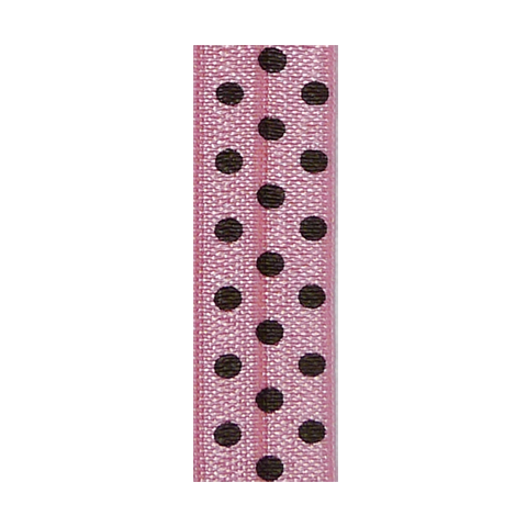 Hair Ties Pink Polka Brown